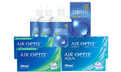 Air Optix Aqua + Air Optix Toric Set Complete Solüsyonlu lens