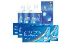 Air Optix Plus HydraGlyde® Kombi Set (Complete Solüsyonlu) lens