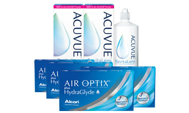 Air Optix Plus HydraGlyde® Kombi Set 4 Kutu