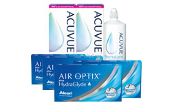 Air Optix Plus HydraGlyde® Kombi Set 4 Kutu lens