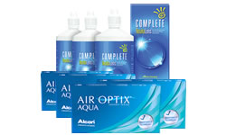 Air Optix AQUA Kombi Set (Complete Solüsyonlu) lens