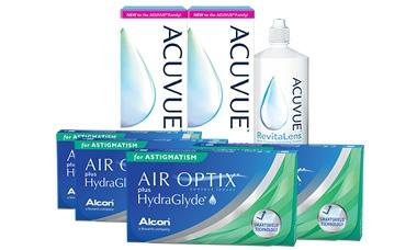 Air Optix Plus HydraGlyde® for Astigmatism Kombi Set 4 Kutu lens