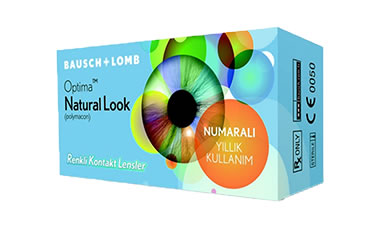 Optima NaturalLook Renkli Numaralı lens